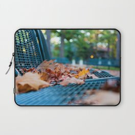 Bench with Autumn Leaves Laptop Sleeve