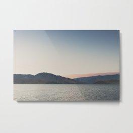sunset over the lake ... Metal Print