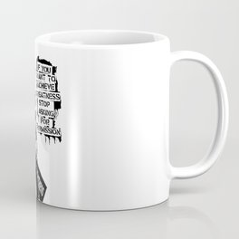 Banksy, If You Want To Achieve Greatness, Stop Asking For Permission, Artwork, Tshirts, Prints, Post Coffee Mug