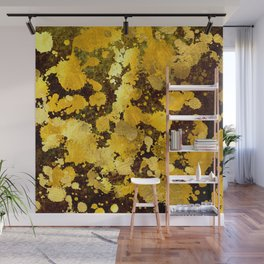 Gold splashes Wall Mural