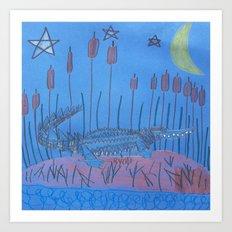 Night Swamp Art Print