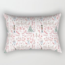 Nutcracker Toile Rectangular Pillow