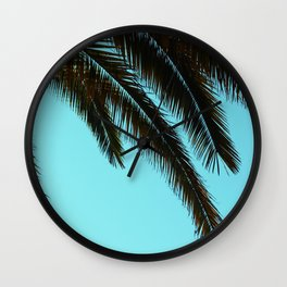 High-Contrast Palm Fronds Wall Clock