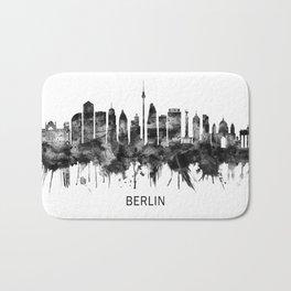 Berlin Germany Skyline BW Bath Mat