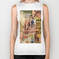 meat Biker Tanks featuring Meat Ladies by Katie Anderson Art