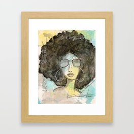 Dope Girl Framed Art Print