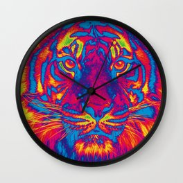 Trippy Tiger Wall Clock