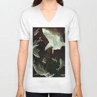 sharks V-neck T-shirts featuring sharks by Lara Paulussen