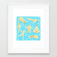 nudes Framed Art Prints featuring NUDES! by Ciara Gay