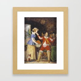 Sir John Everett Millais, Bt 1829–1896   A Maid Offering a Basket of Fruit to a Cavalier Framed Art Print
