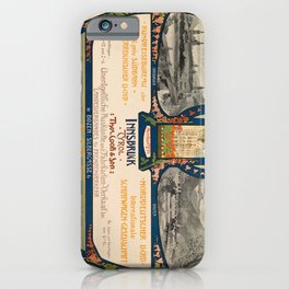 old poster innsbruck. circa 1900 iPhone Case