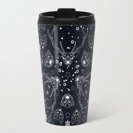 Arctic geometric dark Travel Mug