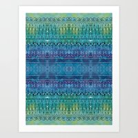 Tribe by the River Art Print