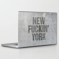 tupac Laptop & iPad Skins featuring New York by Text Guy