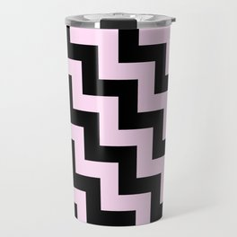 Black and Pink Lace Pink Steps LTR Travel Mug