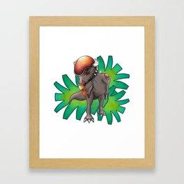 Patchycephalosaurus Framed Art Print