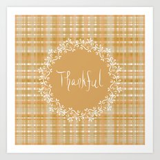 Autumn Weave Thankful Art Print