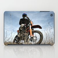 moto iPad Cases featuring KTM Moto by Mateusz Strelau