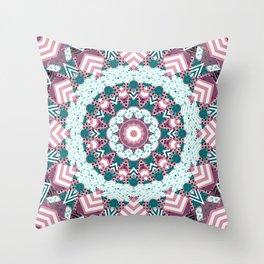 Rustic patchwork 2 Throw Pillow