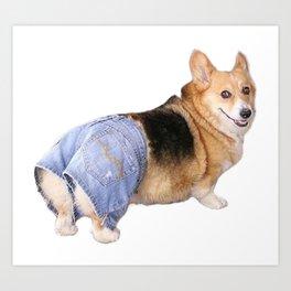 Corgi, Apple Bottom Jeans Art Print