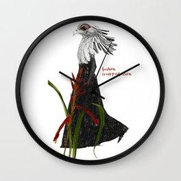modern collage. fashion. contemporary art Wall Clock
