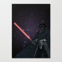 darth vader Canvas Prints featuring Darth Vader  by Rebecca Bear