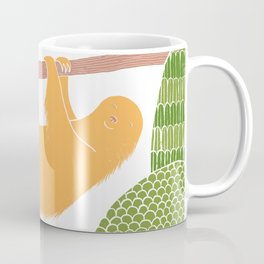 Sleepy Happy Sloth Coffee Mug