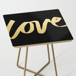 Love Gold Black Type Side Table