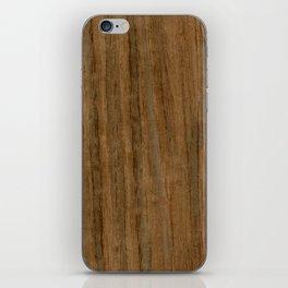 Etomie (Flat Cut) Wood iPhone Skin