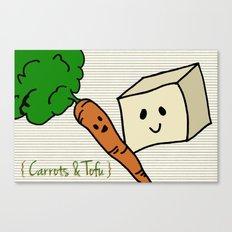 {Carrots & Tofu} Canvas Print