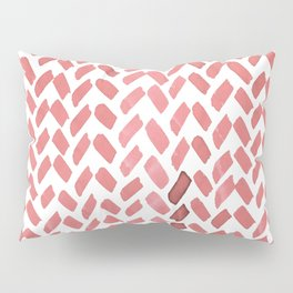 Cute watercolor knitting pattern - living coral Pillow Sham