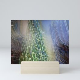 Abstract Lit Xmas Tree1 Mini Art Print