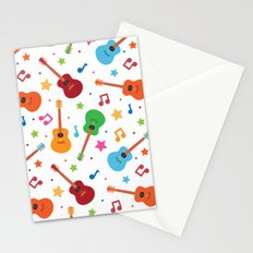 Guitars and Stars Stationery Cards