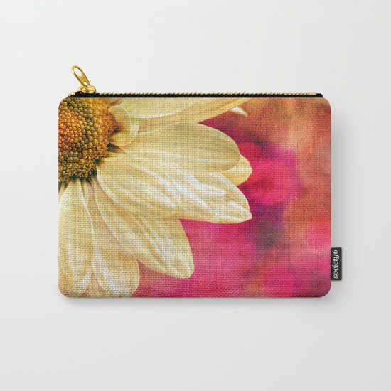 Daisy - Golden on Pink Carry-All Pouch