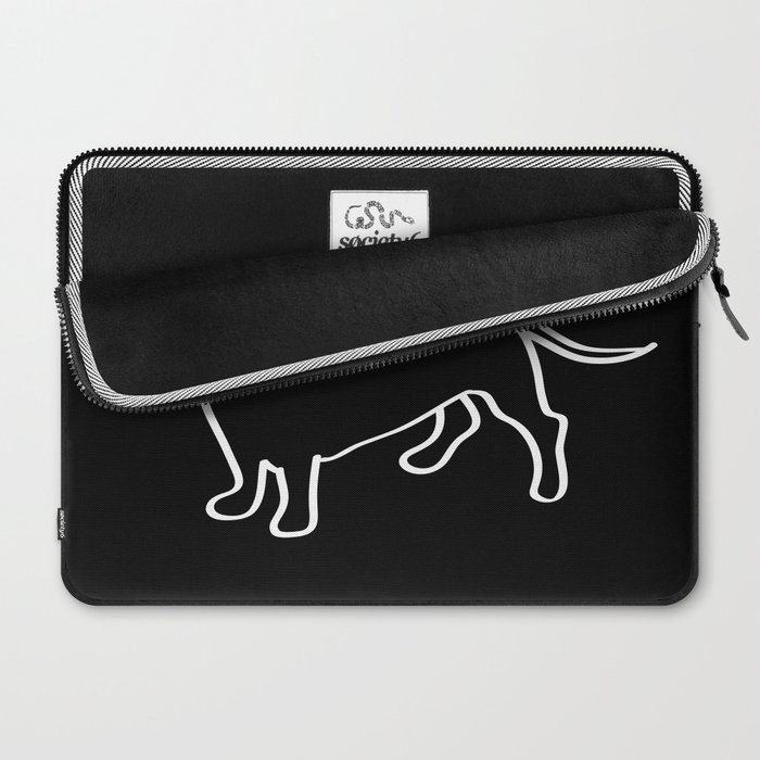 Doxie Love White Laptop Sleeve