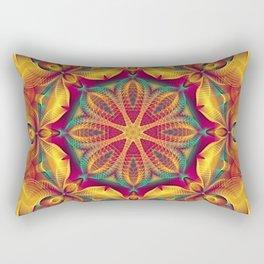 Flower Of Life Mandala (Summer Heat) Rectangular Pillow