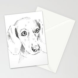 Sausage Dog Drawing Stationery Cards