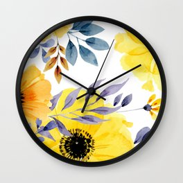 FLOWERS WATERCOLOR 10 Wall Clock