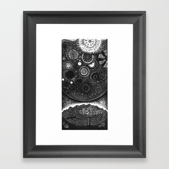 Infiniteness Woodcut Framed Art Print