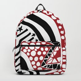 Soul Of The Dream Desert - Star Gazer (Black and Red Edition) Backpack