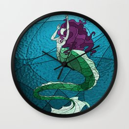 Primeval Mermaid Wall Clock