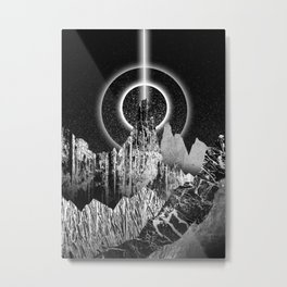 Light beam peak Metal Print