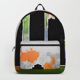 Kansas city skyline silhouette Backpack