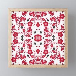 Bloody Blossoms Framed Mini Art Print