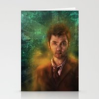 david tennant Stationery Cards featuring 10th Doctor David Tennant by SachsIllustration