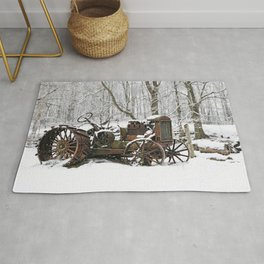 Steel and Snow Rug