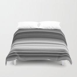 Black White Gray Thin Stripes Duvet Cover