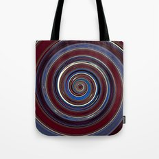 Re-Created Spin Painting (Midnight & Burgundy) by Robert S. Lee Tote Bag