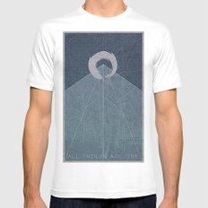 All Things Are One MEDIUM White Mens Fitted Tee