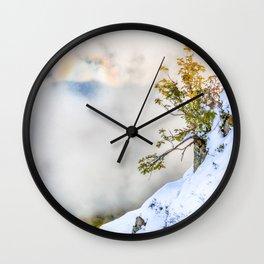 Halo in Caucasian ridge Wall Clock